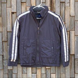 Gap boys jacket coat gray white warm size Large